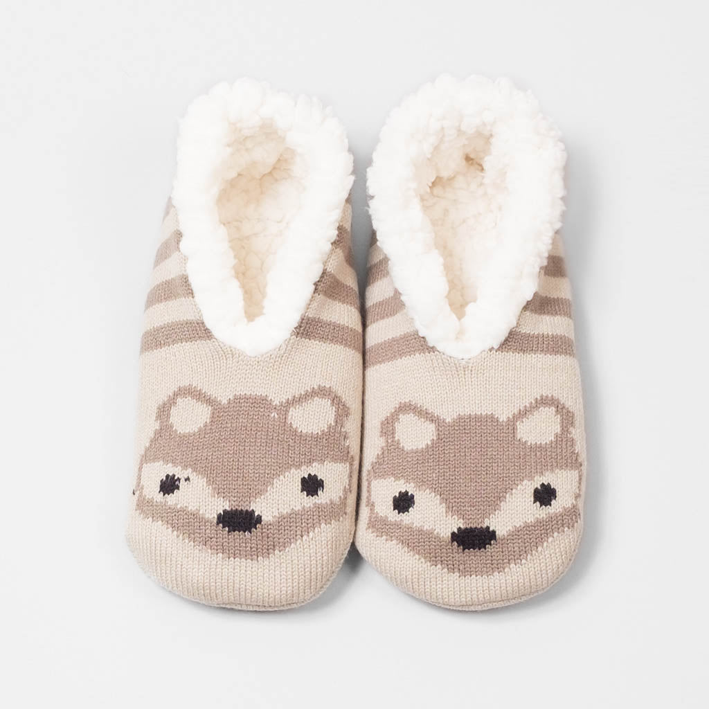 Forest Friend Slipper - Fox (Oatmeal)