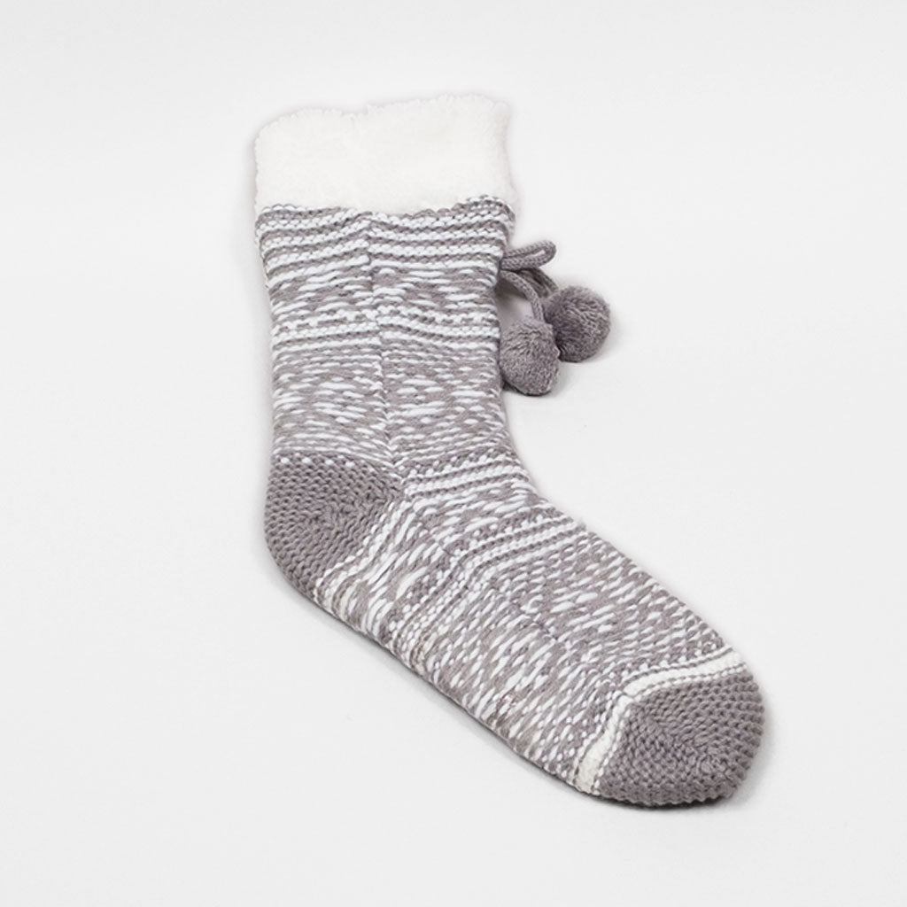 Poet's Pattern Reading Sock - Wild Dove