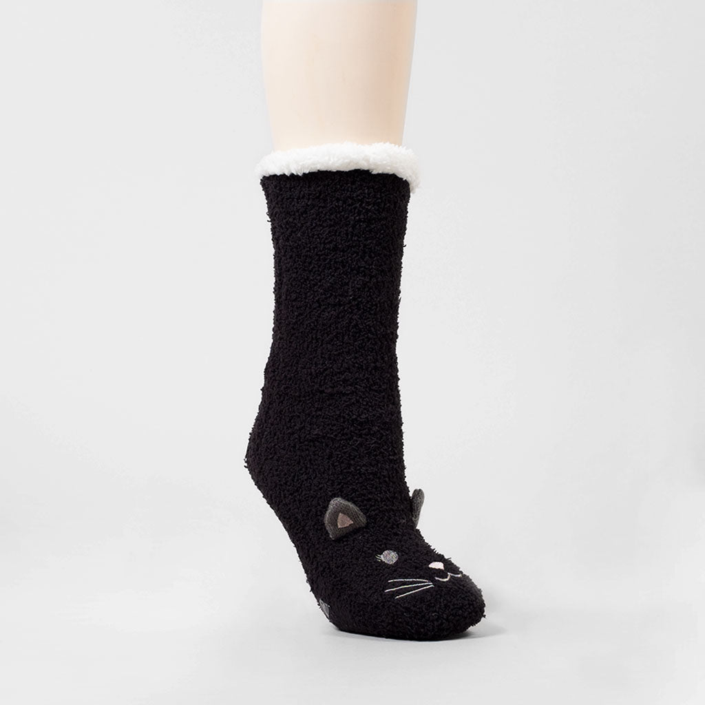 Companion Lounge Sock - Cat (Black)