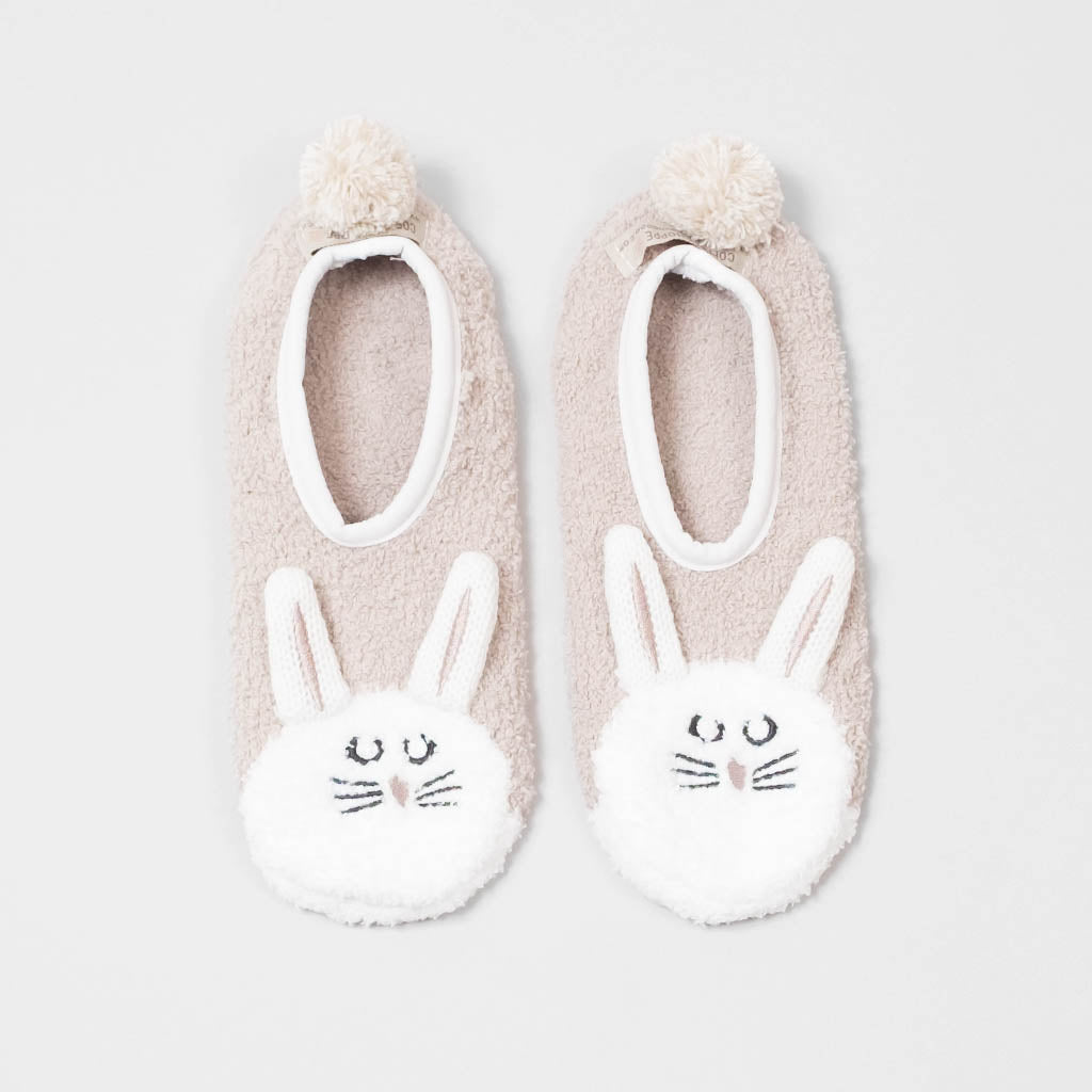 Fluffy Friend Footlet - Bunny (Millennial Pink)