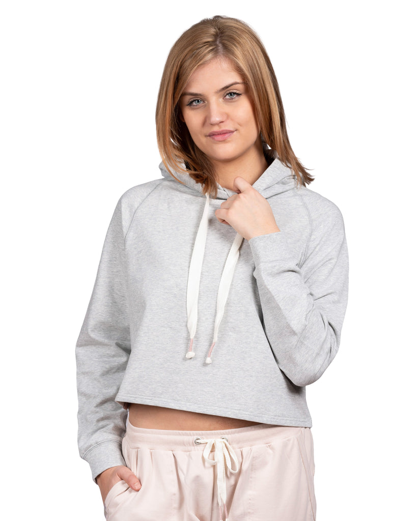 Take-Comfort Cropped Lounge Hoody - Grey Mix