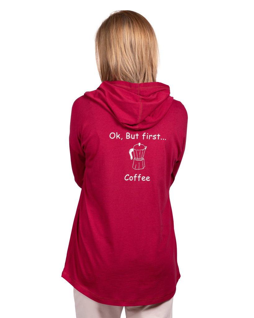 Espress'o' Yourself Sleep Hoody with Kanga Pocket - OK, But first… Coffee