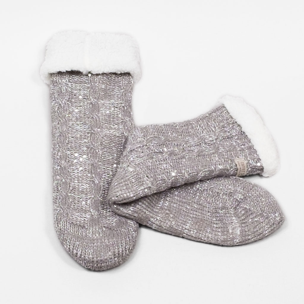 Sparkle and Shine Slipper Sock - Wild Dove