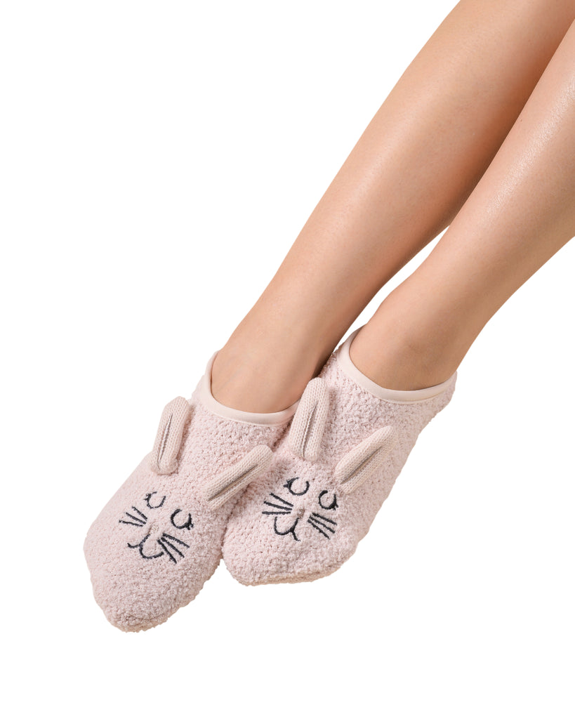 Fluffy Friend Plush Marshmallow Footlet - Bunny (Millennial Pink) S/M