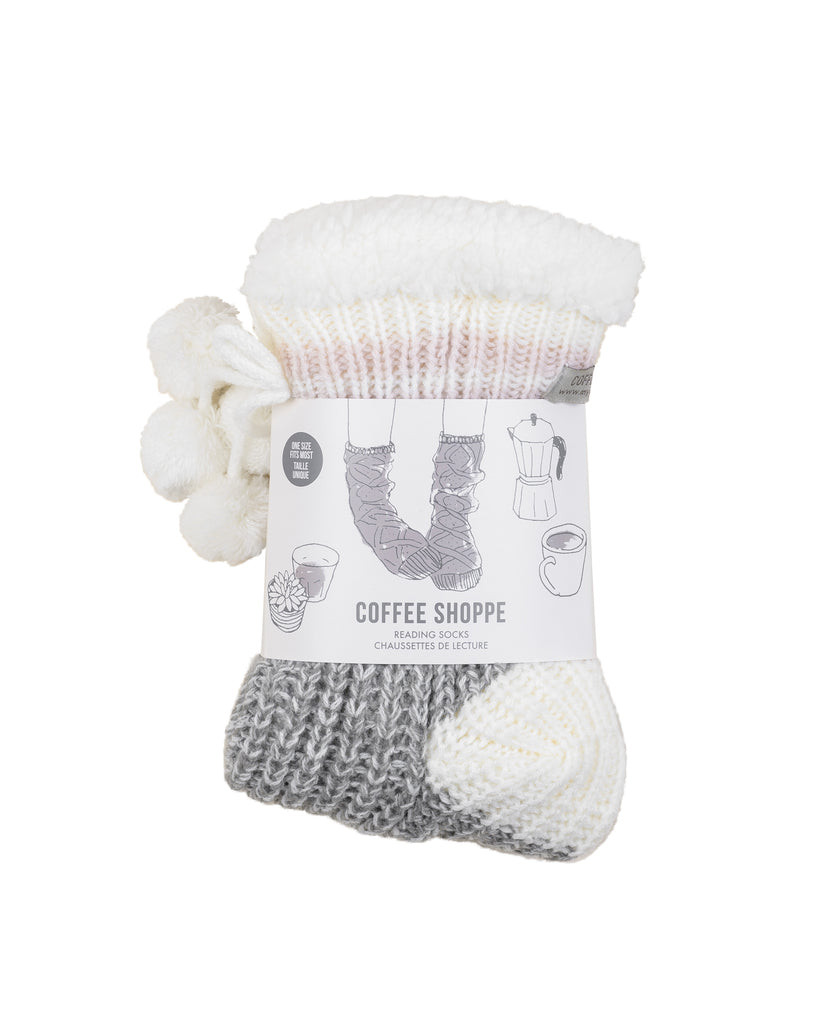 Classic Canadiana Cottage-Life Low-Cut Slipper Socks - Soft Grey