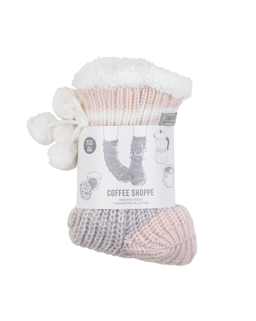 Classic Canadiana Cottage-Life Low-Cut Slipper Socks - Silver Cloud