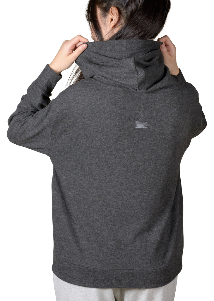 Cozy Slip-It-On Reading Hoodie - Charcoal Mix