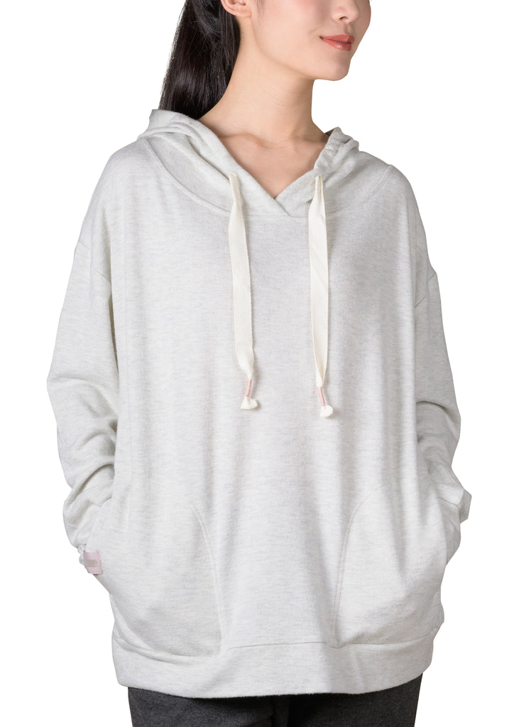 Cozy Slip-It-On Reading Hoodie - Grey Mix