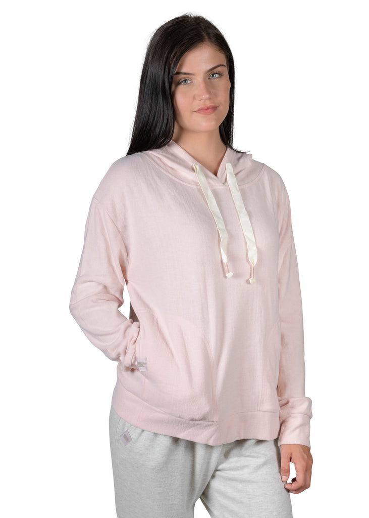 Cozy Slip-It-On Reading Hoodie - Millennial Pink