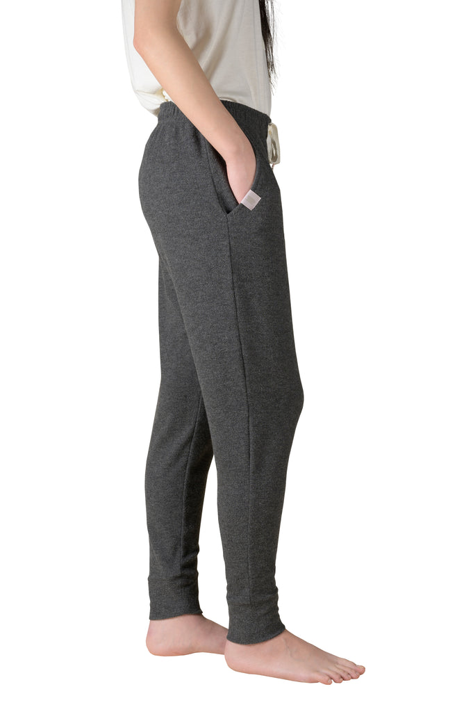 Cozy Kicking-Back Reading Jogger  - Charcoal Mix