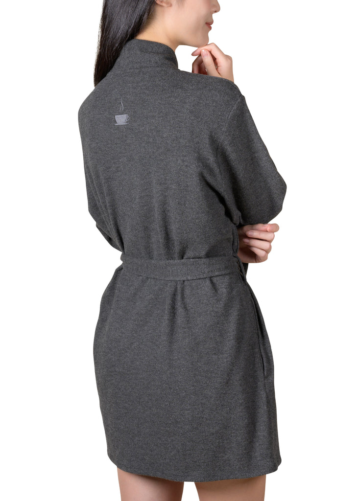 Cozy Wrap-It-Up Reading Robe - Charcoal Mix
