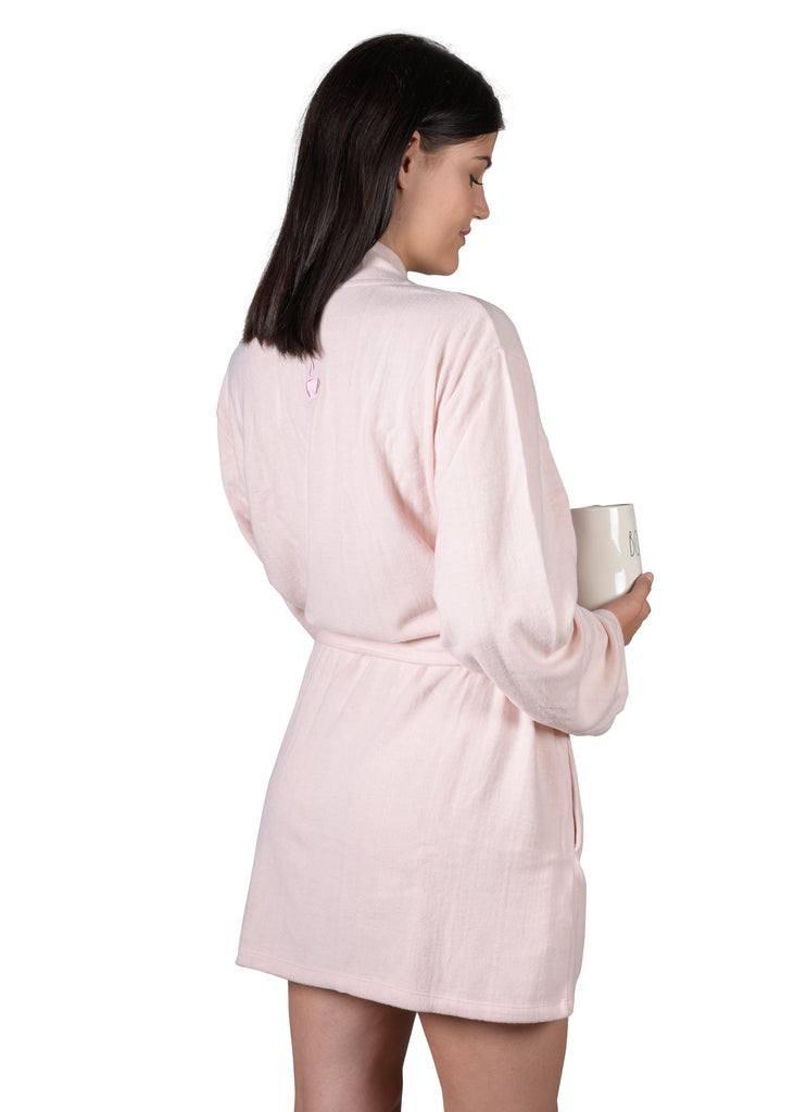 Cozy Wrap-It-Up Reading Robe - Millennial Pink