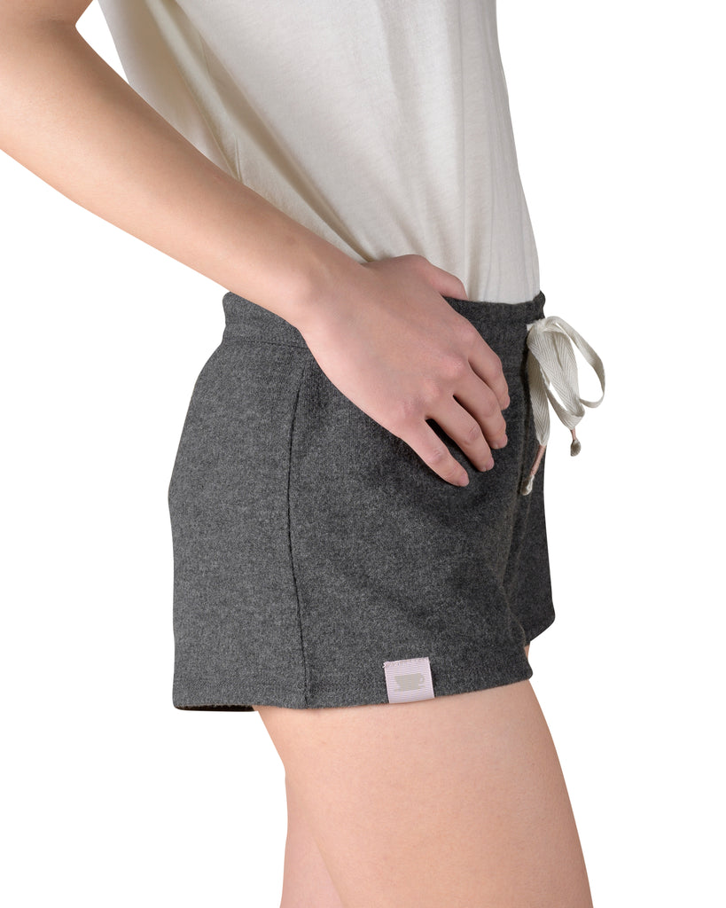 Cozy Short & Sweet Reading Shorts - Charcoal Mix