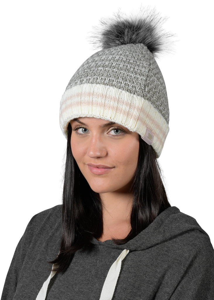 Canadiana Knit Hat - Soft Grey