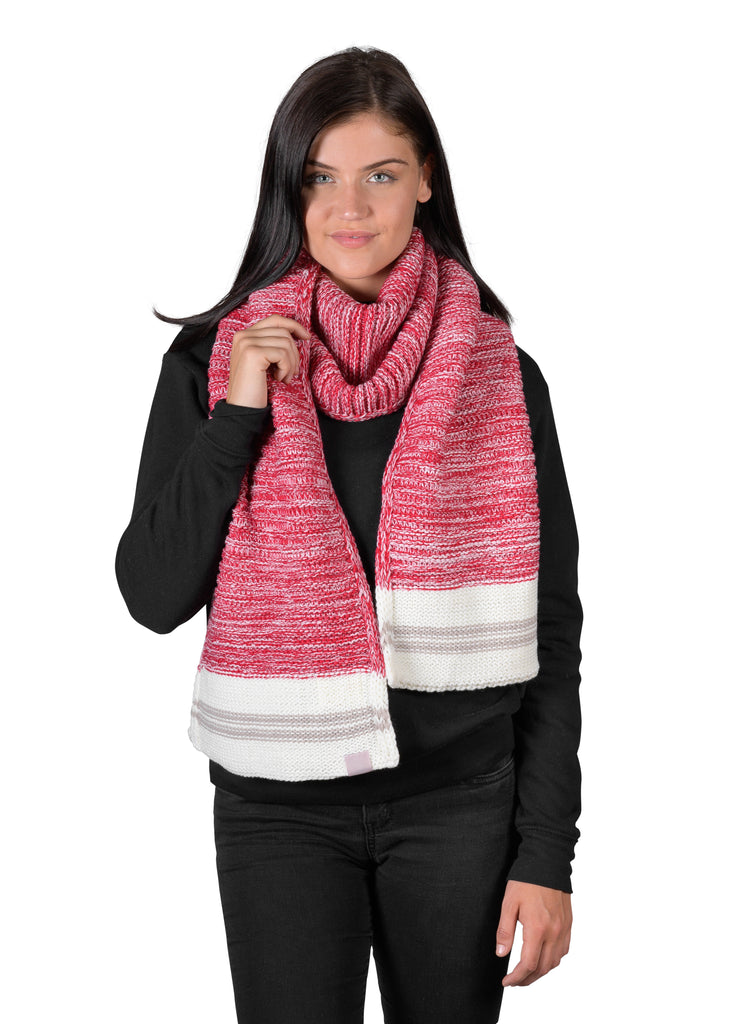 Canadiana Knit Scarf - Deep Red