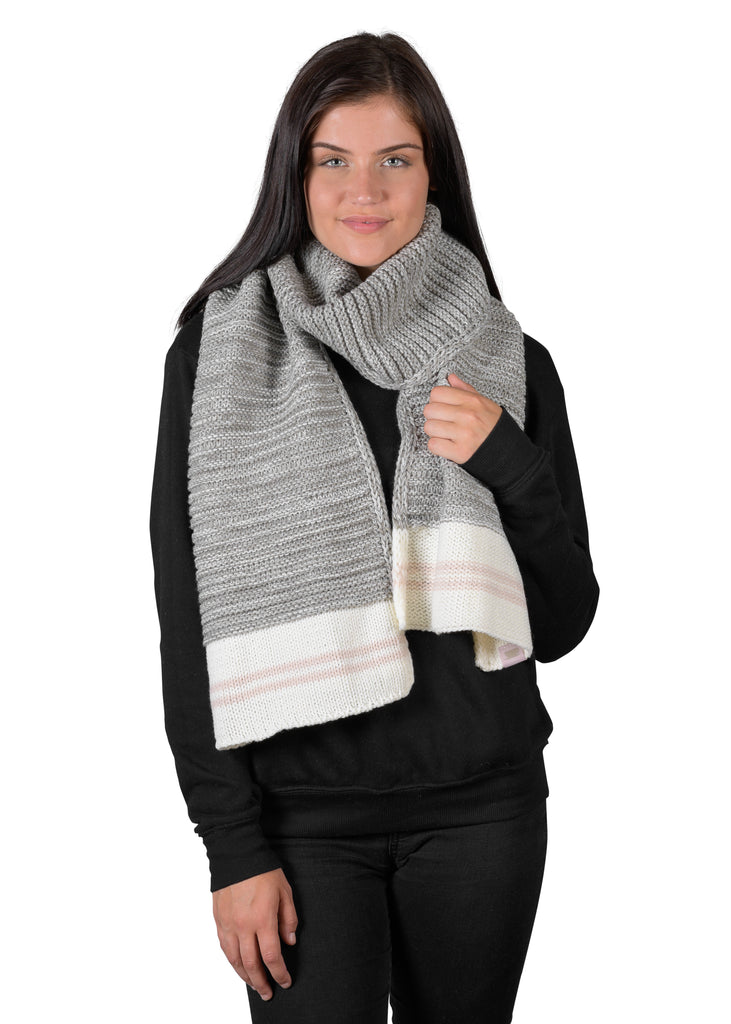 Canadiana Knit Scarf - Soft Grey