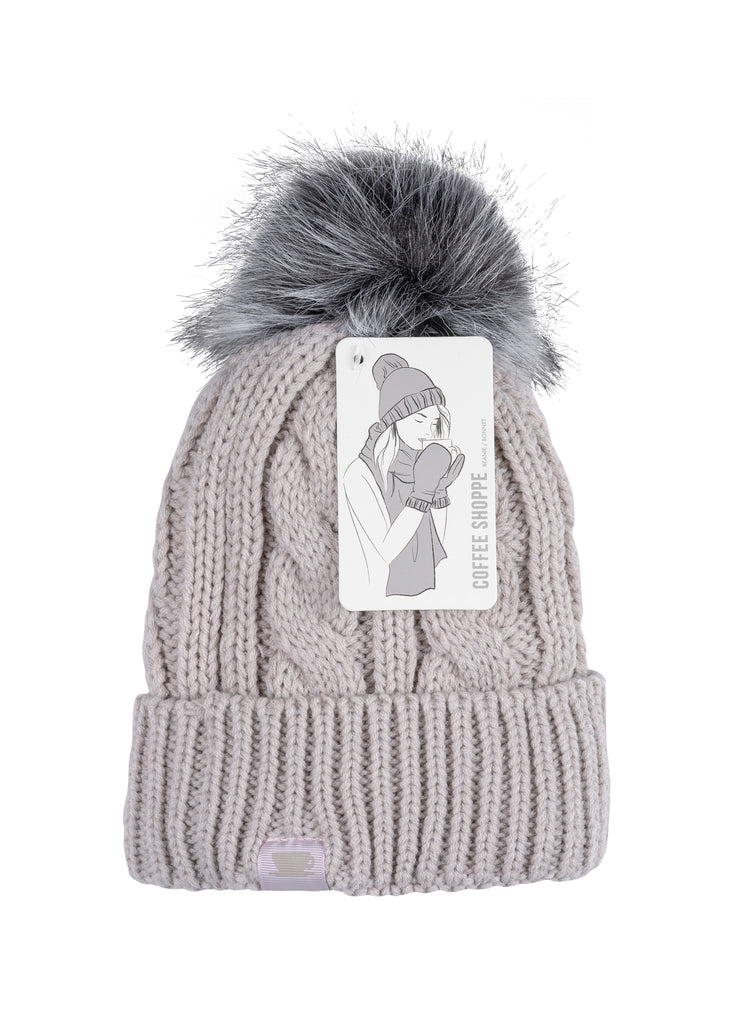 COZY Textured Cable Knit Hat