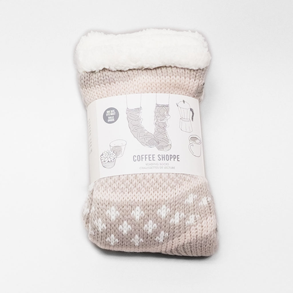 Favourite Novel Lounge Sock - Silver Cloud