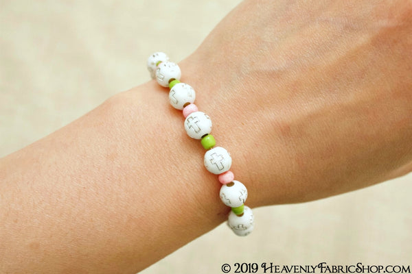 Faith Bead Stretch Cord Bracelet