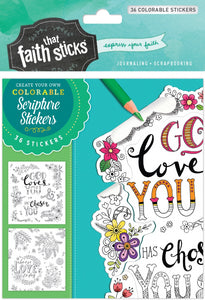 1 Thessalonians 1:4 Colorable Stickers 4 Sheet Set