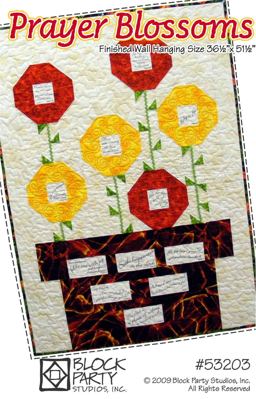 Prayer Blossoms Quilt Pattern & Comfort of Psalms Fabric Panel Kit