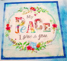 Bloom With Grace Large Cotton Fabric Panel
