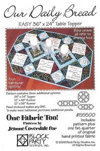 Our Daily Bread Quilt Pattern & Fabric Panel Kit