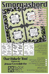 Smorgasbord Quilt Pattern & Comfort of Psalms Fabric Panel Kit