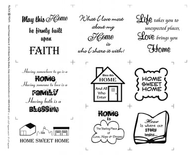 Home Sweet Home Faith Fabric Panel
