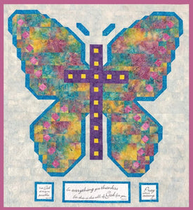 Give Thanks Quilt Pattern & Scripture Verse Fabric Panel Kit