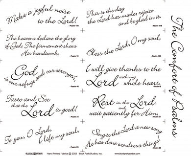 Comfort of Psalms I Scripture Rectangles Fabric Panel