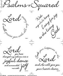 Comfort of Psalms IV Scripture Squares Fabric Panel
