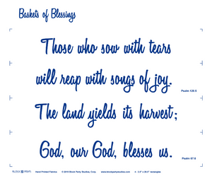 Basket of Blessings Quilt Pattern & Psalms Fabric Panel Kit