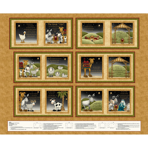 Little Readers Great I Am Nativity Story Soft Book Cotton Fabric Panel
