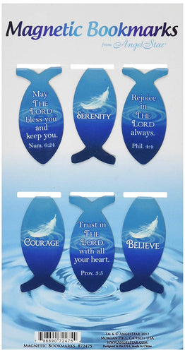 Magnetic Ichthys Fish Bookmarks Set