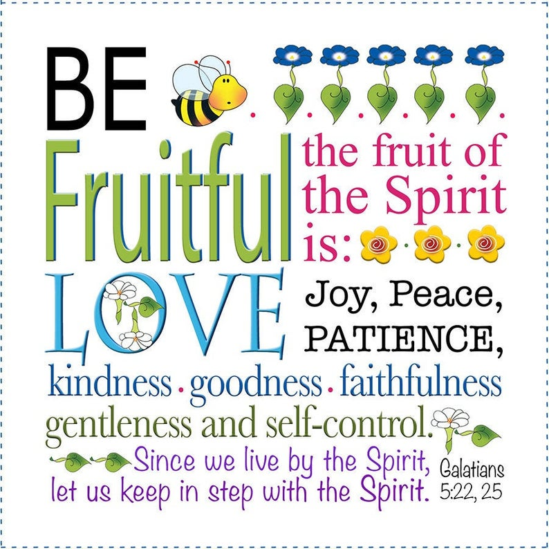 Be Fruitful Galatians 5:22 6 inch Mini Fabric Art Panel