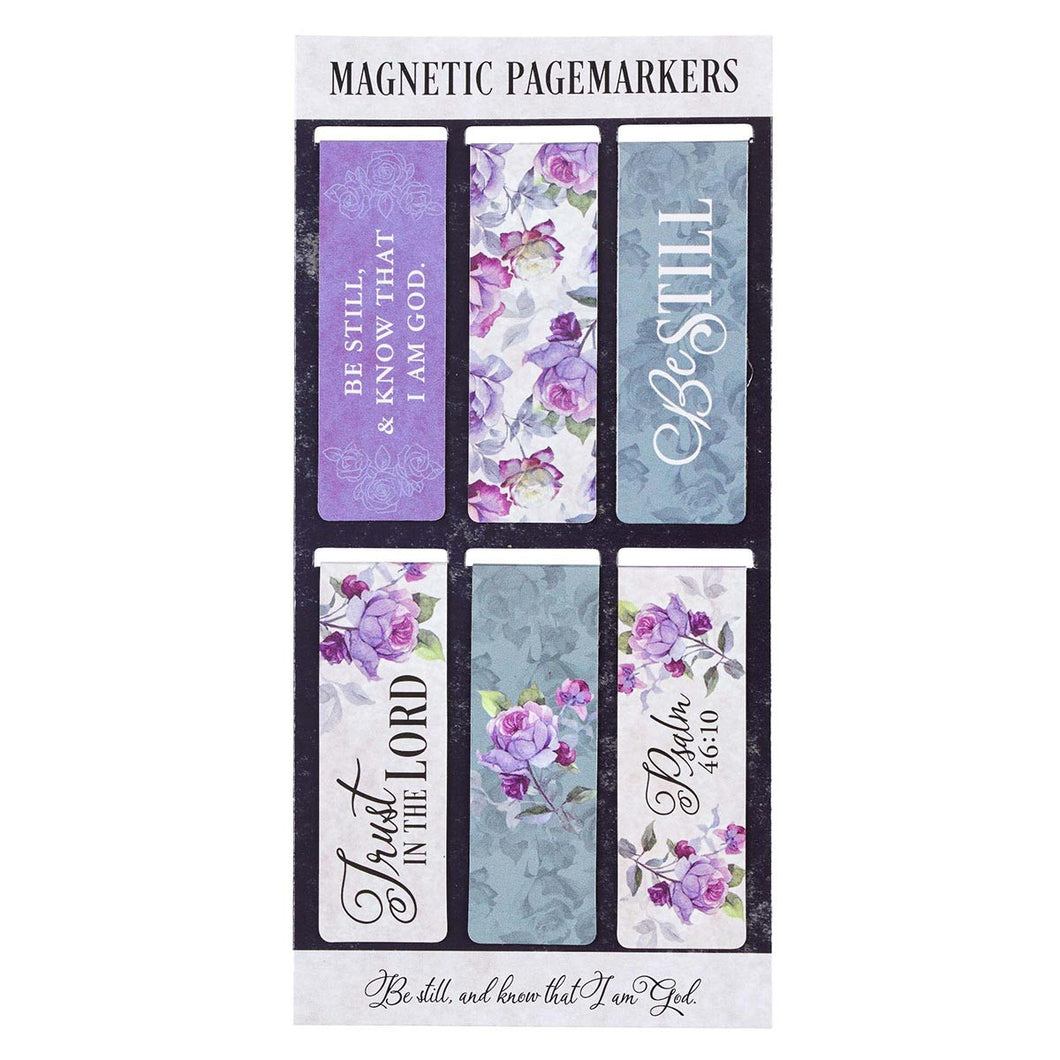 Be Still Psalm 46:10 Magnetic Bookmarks Set
