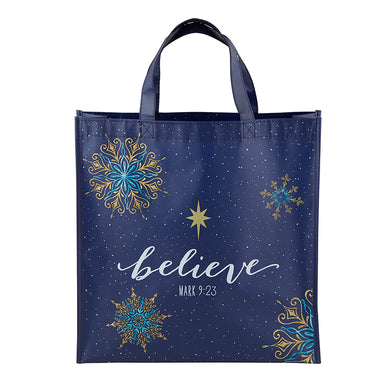 Believe Laminated Tote Bag