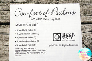 Comfort of Psalms Quilt Pattern & Fabric Panel Kit