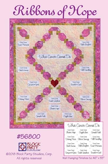 Ribbons of Hope Quilt Pattern & Fabric Panel Kit