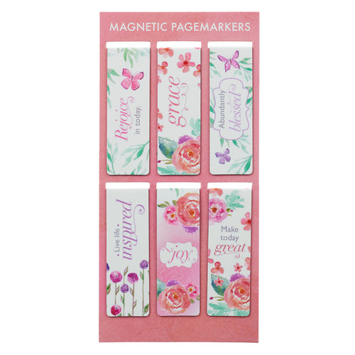 Blossoms of Blessings Magnetic Bookmarks Set
