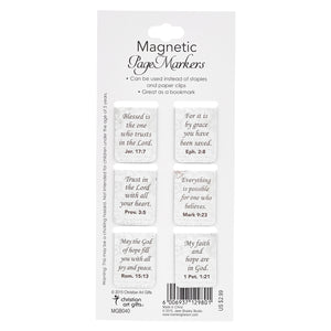 Butterfly Blessings Scripture Magnetic Bookmarks Set