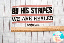 By His Stripes We Are Healed Prayer Cloth Cotton Mini Fabric Panel