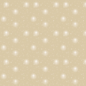 Oh Holy Night Star Scatter Linen Cotton Fabric