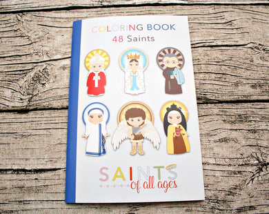 48 Catholic Saints Coloring Book
