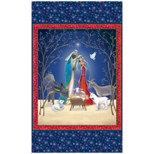 Christ Is Born Nativity MINKY Fabric Panel