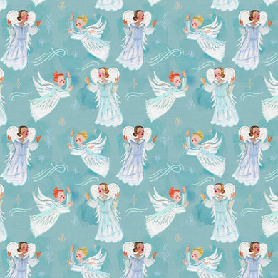 Christmas Peace Choir of Angels Cotton Fabric