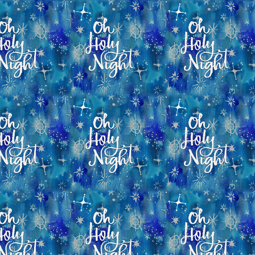 Christmas Peace Oh Holy Night Cotton Fabric