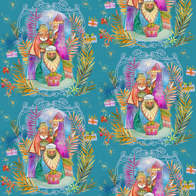 Christmas Peace We Three Kings Cotton Fabric