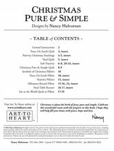 Christmas Pure and Simple Project Pattern Book